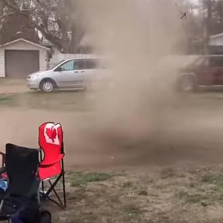Plaatselijke zandstormpje