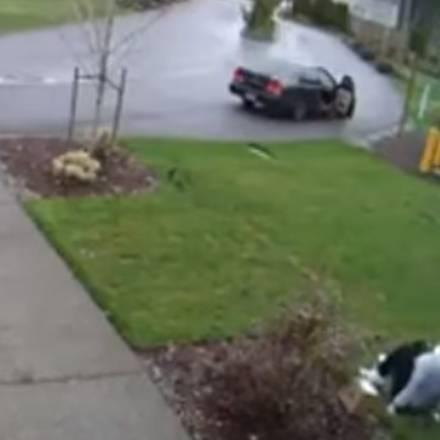 Vrouw steelt pakker, breekt haar been