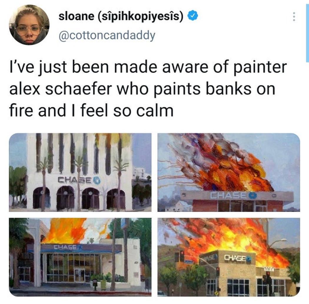 Banken die in brand staan