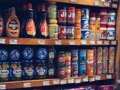 """De sectie """"Amerikaans Eten"""" in buitenlandse supermarkten"""