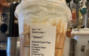 Ingewikkelde bestelling bij Starbucks